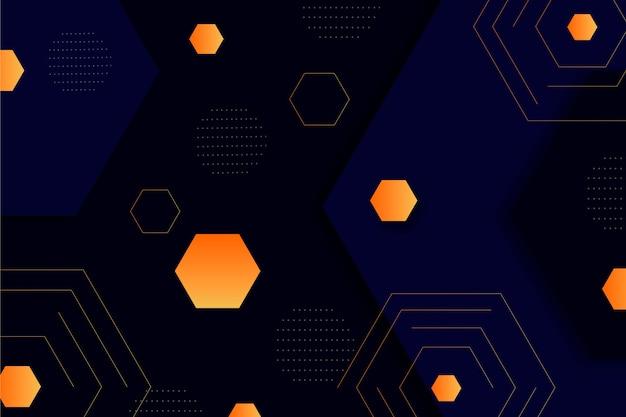Оранжевые градиентные фигуры на темном фоне Бесплатные векторы