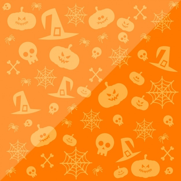 orange halloween background free vector - Halloween Background Images Free