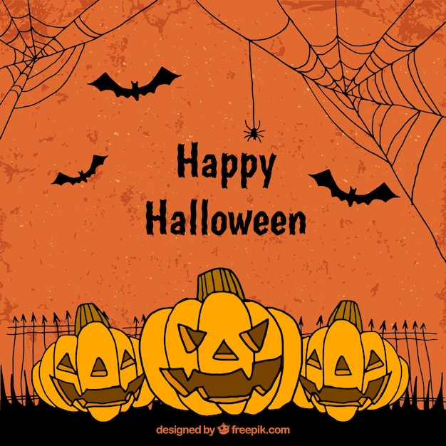 orange halloween background vector free download