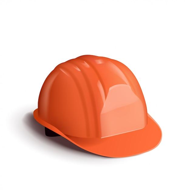 Оранжевый шлем Premium векторы