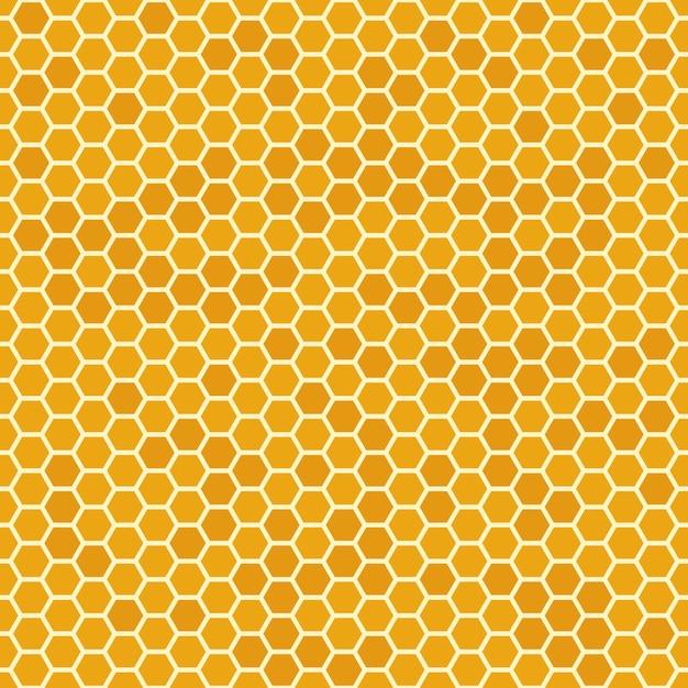 Orange honeycomb seamless pattern Premium Vector