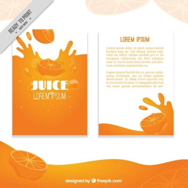 Orange juice brochure Free Vector