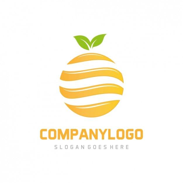 Orange logo template Vector | Free Download