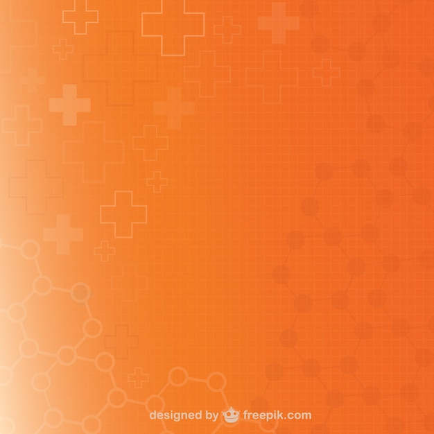 Orange medical background Free Vector