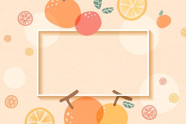 Orange patterned frame Free Vector