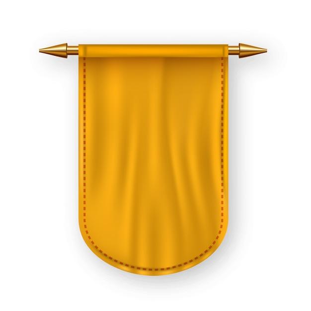 Orange pennat flag Premium Vector