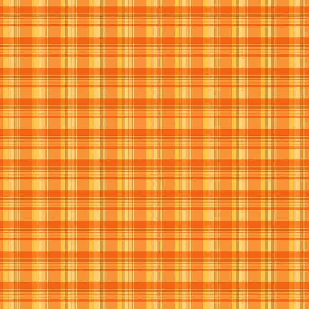 オレンジチェック柄のテクスチャ背景 無料ベクター