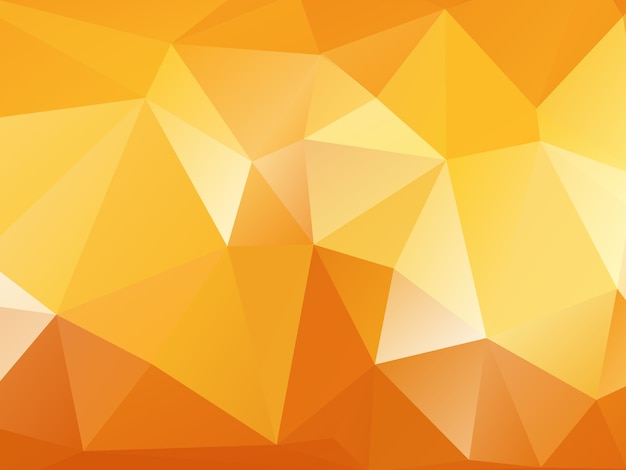 Orange polygon background Free Vector