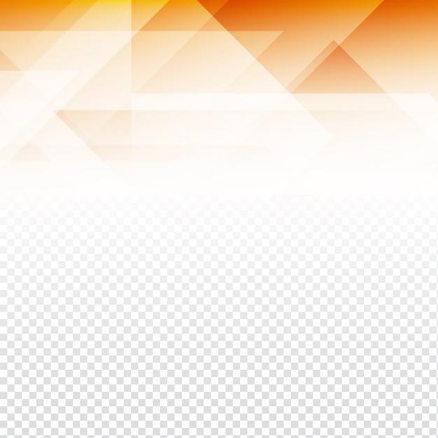Orange Polygonal Shapes On A Transparent Background Vector