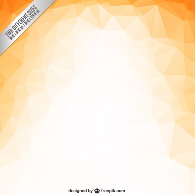 Orange polygons background Free Vector