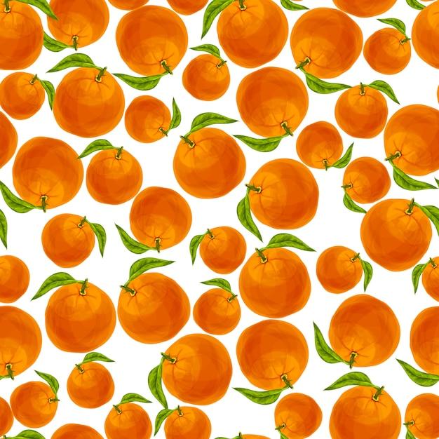 Orange seamless pattern Free Vector