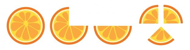Orange slice clip art vector  Vector | Premium Download