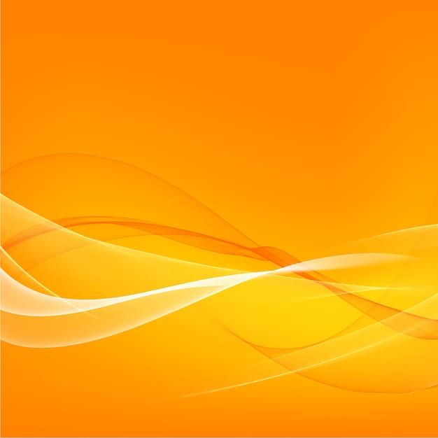 Оранжевый гладкие светлые линии фон Бесплатные векторы