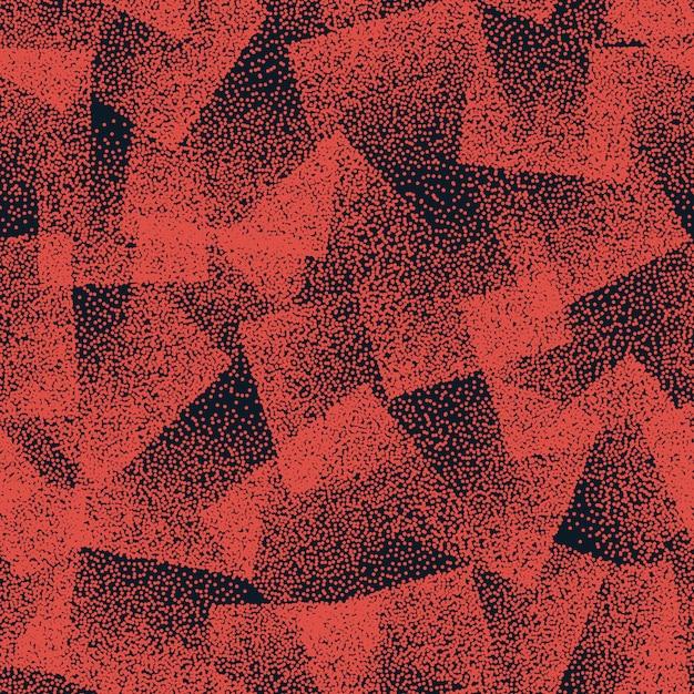 Orange stippled weird abstract seamless pattern Premium Vector