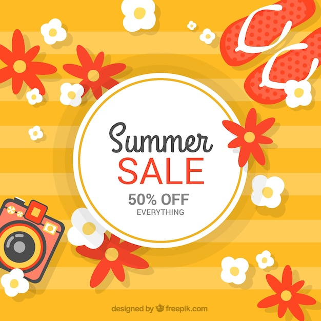 Orange summer sale background