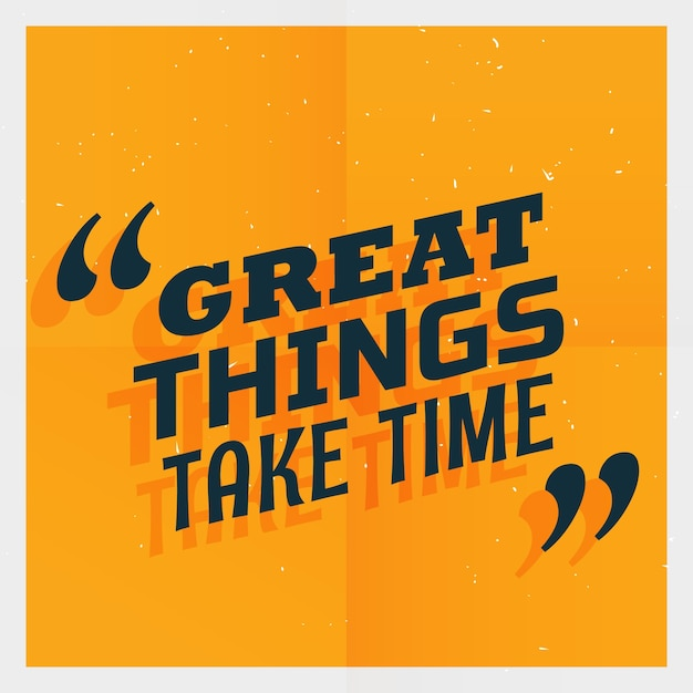 orange text template with a motivational quote vector free download