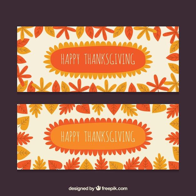 Orange thanksgiving banners