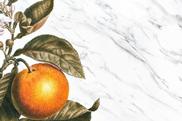 Orange tree background Free Vector