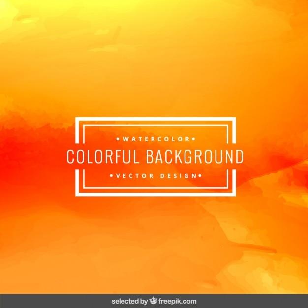 orange watercolor background vector free download