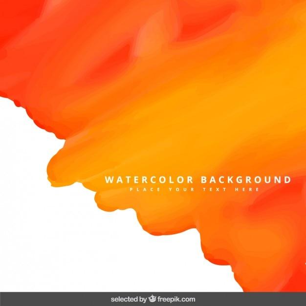 Orange watercolor background Free Vector