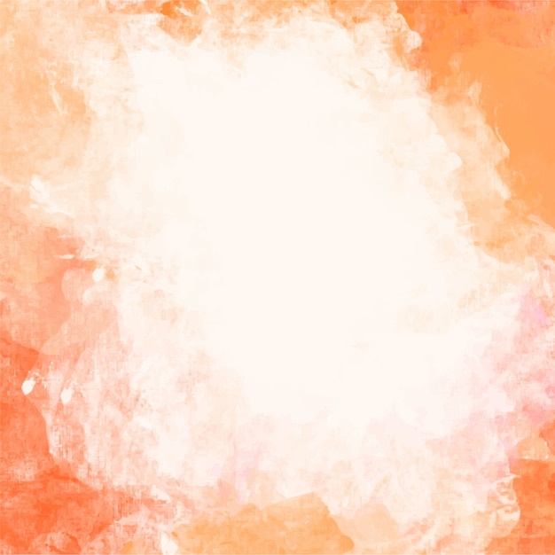 Orange watercolor background Free Vector