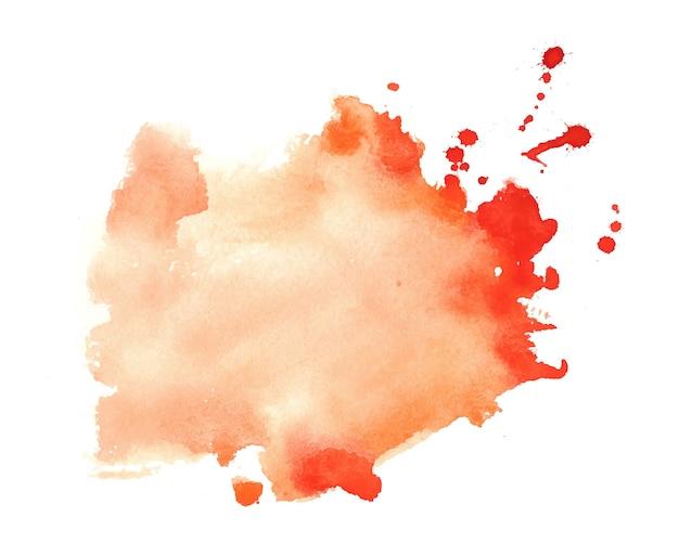 Acquerello arancione splatter macchia sfondo texture Vettore gratuito