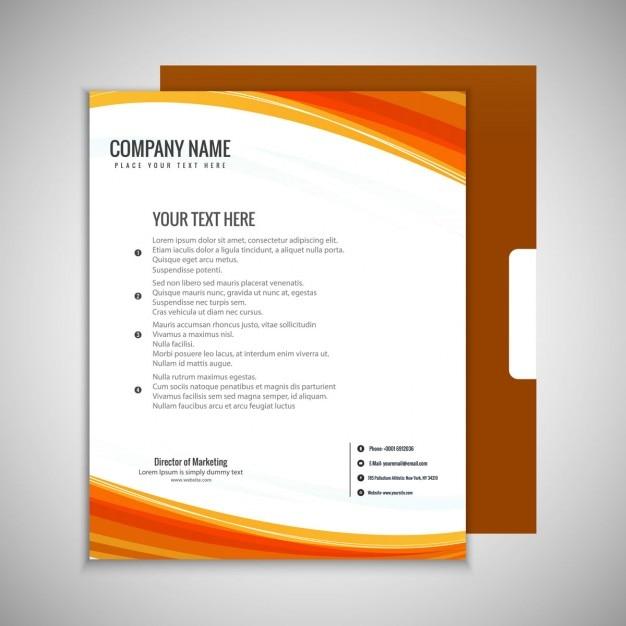 Блестящая бизнес-брошюра Бесплатные векторы