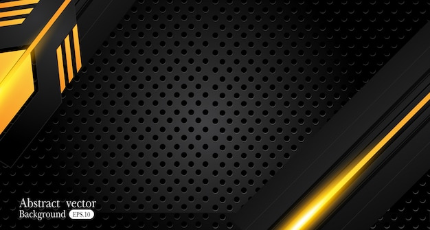 Orange yellow and black abstract business background Premium Vector