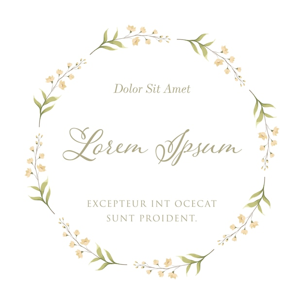 Orchid flower for floral frame wreath. wedding invitation card template Premium Vector