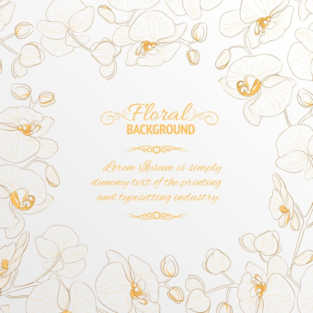Orchid frame. Vector   Free Download