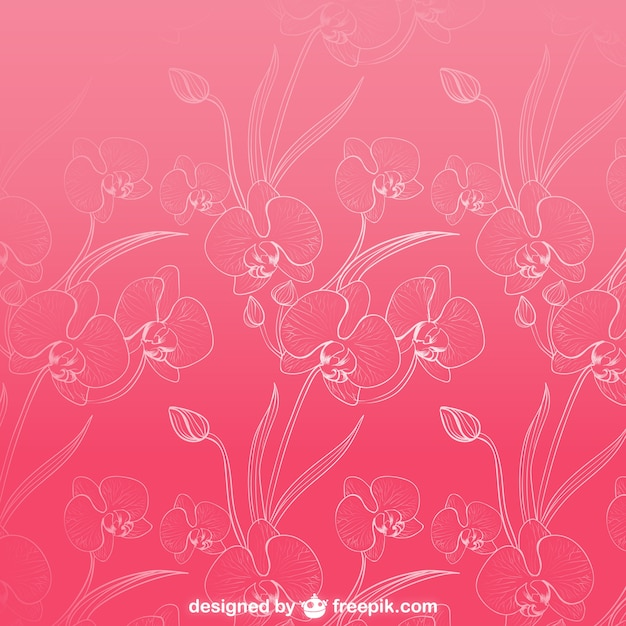 Orchids Background Pattern