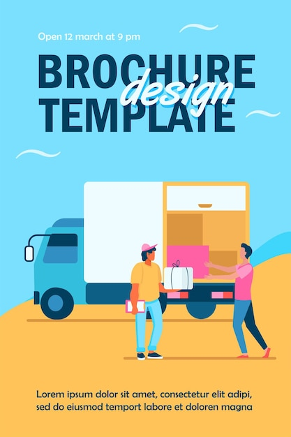 Order delivery service flyer template Free Vector