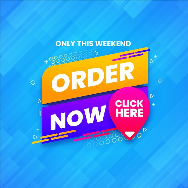 Order now banner Free Vector