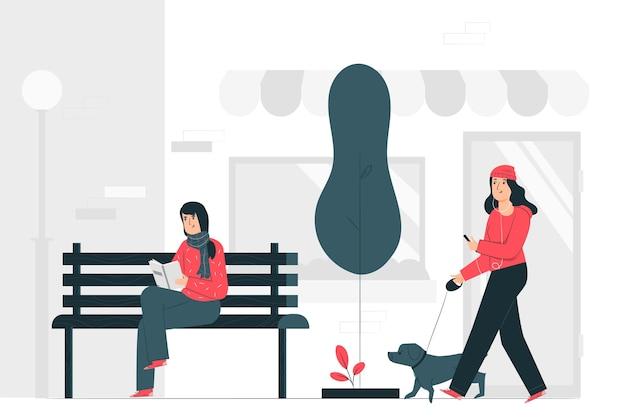 Illustrazione di concetto di giorno ordinario Vettore gratuito