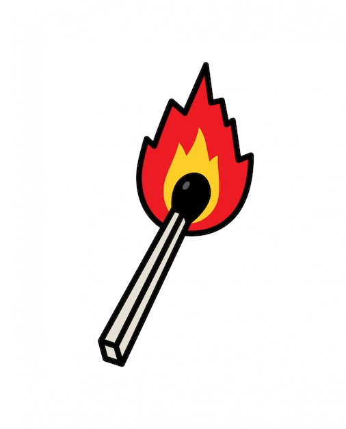 An ordinary match icon Premium Vector