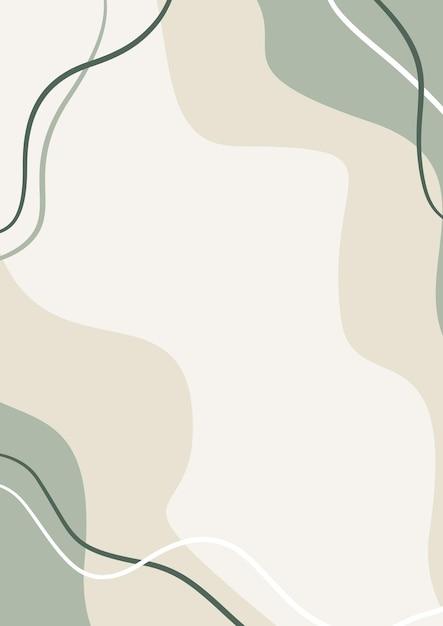 Organic abstract pastel shapes background, memphis style background, minimalist aesthetic Premium Ve