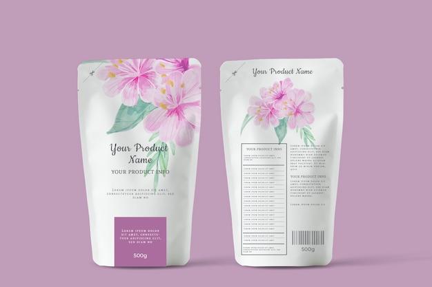 Органический цветущий рекламный чай Premium векторы