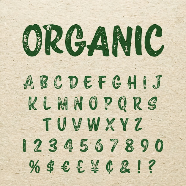 Premium Vector Organic Brush Script Lettering Font Handwritten Calligraphic Alphabet