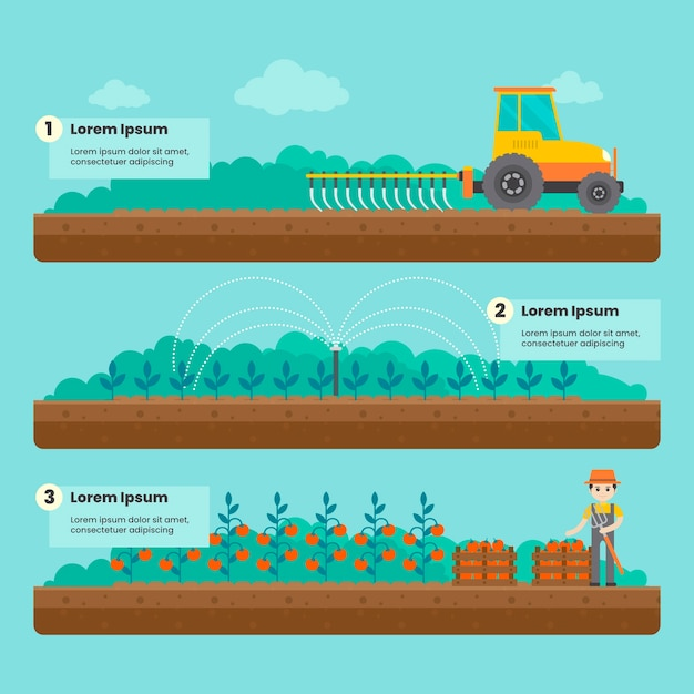 Organic farming concept Free Vector
