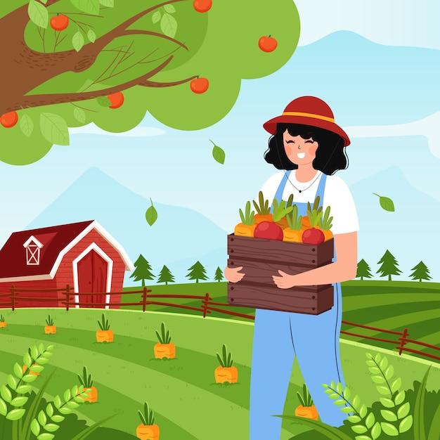 Free Vector | Organic farming concept