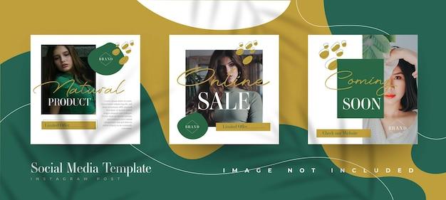 Organic fashion sale instagram post template Free Vector