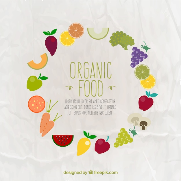 Organic food frame Vector | Free Download