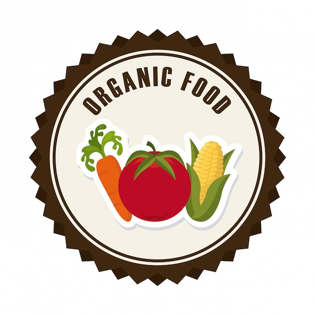 Organic food graphic design Free Vector