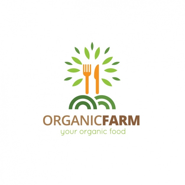 organic food logo template vector free download