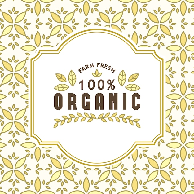 Organic food and natural products Free Vector