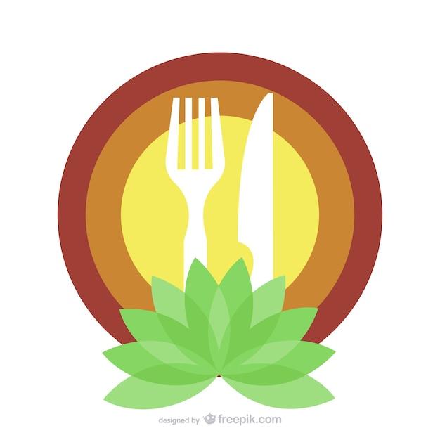 Organic food restaurant logo template vector free download