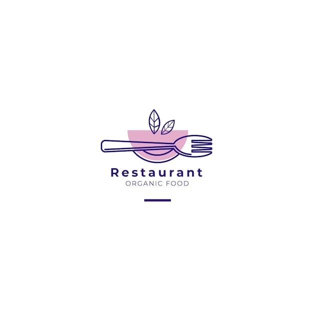 Логотип ресторана органической еды Бесплатные векторы