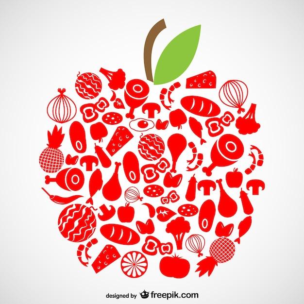 Organic food symbols Vector   Free Download