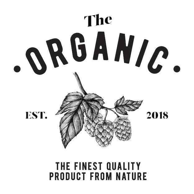 The organic logo design vector Free Vector