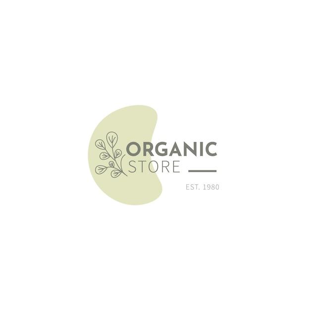 Органический шаблон логотипа с листьями Бесплатные векторы